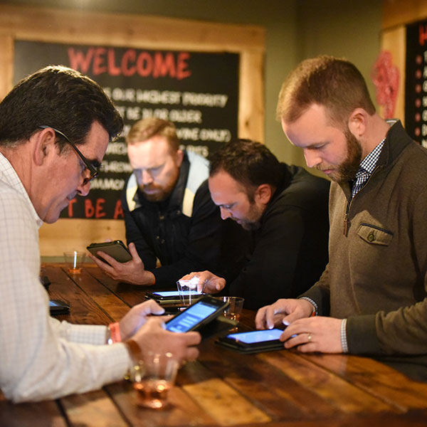 Stumpy's customers signing digital waivers